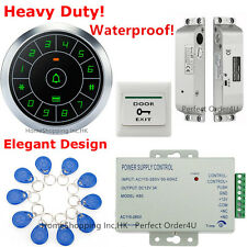 Waterproof RFID Card Door Entry Access Control System+Electric Drop Bolt Lock