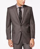 $650 CALVIN KLEIN Mens Slim Fit Wool Blazer Gray Pindot JACKET SPORT COAT 40R