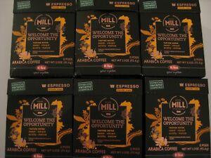 (6) Boxes!  Mr&MRS Mill coffee Starbucks Verismo compatible dark roast 72 Pods