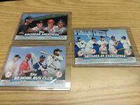 2001 Topps Baseball COMBOS RUTH, JETER, MARIS, KOUFAX & YOGI BERRA 3 Card Lot!!