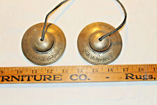 """Antique/Vintage Brass Gong Style Hand/Door Chimes-3"""" Across-Great Sound/Tone"""