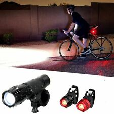 Luz LED Linterna 6000LM para Bici Bicicleta Delantera Trasera Luces Camping