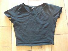 Girl's New Look Negro Corto 10-11 años Camiseta.