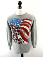 CONVERSE Boys Jumper Sweater 13-15 Years Grey Cotton & Polyester