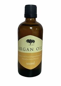 PURE ORGANIC MOROCCAN ARGAN OIL 100ML X 2, FOR HAIR, SKIN AND NAILS