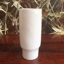 HUTSCHENREUTHER Germany KUNSTABTEILUNG edle weiße Vase mit Relief Dekor