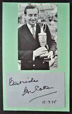 Algodón Henry Abierto Golf campeón 1934 Excelente Autógrafo Original