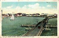 Vintage Postcard - 1922 BC & A Bridge And Bay Looking Towards Ocean City #6681
