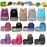 Women's Backpack School Book Bags Satchel Shoulder Rucksack Canvas Travel Bag US