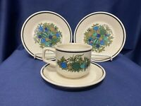 Lenox Temperware FALL BOUNTY 2 Bread Plates and 1 Cup & Saucer