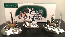 New Sealed Dept 56 Woodland Animals At Cliff's Edge Set of 3 52816 Issued 1999
