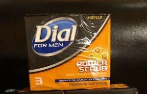 3 x Dial For Men Power Scrub Deep Down Cleansing Soap
