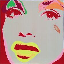 David Cintract acrylique sur toile pop art pop libre