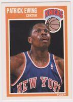 1989-90  PATRICK EWING - Fleer Basketball Card # 100 - NEW YORK KNICKS