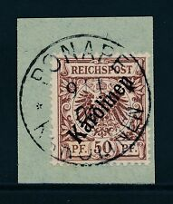 Deutsche Kolonien Karolinen Briefstück Mi-Nr. 6 I Diagonalaufdruck, Foto-Attest