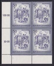 Österreich 1975 ANK.Nr.:1601a mit Symbolzahl 1 pf**im 4er Block siehe Bild >