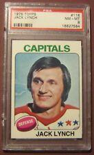 1975 TOPPS #116 JACK LYNCH CAPITALS GRADED PSA 8 NM-MT HOCKEY CARD *C31