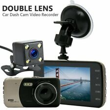 "1080P 4"" Dual Lens Car Dash Cam Front and Rear Camera Dashboard DVR Recorder"