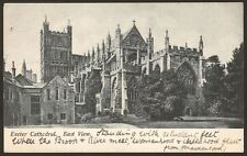 Devon. Exeter. Exeter Cathedral. East View. - Vintage Printed Postcard
