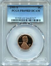 1991 S 1C Lincoln Cent Penny PCGS PR69RD DCAM