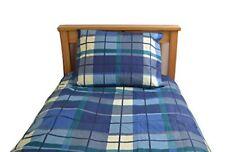 Single Quilt Duvet Cover Set With Pillowcase Check Print Durable 68 Polycotton
