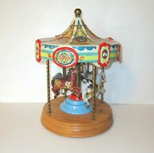 Tobin Fraley 4 Horse American Carousel Limited Edition Plays Somewhere in Time