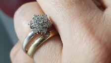 anillo oro blanco con diamantes total 0,50 carat precioso solitario Ring bague