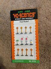 LIFE-LIKE  HO-SCENICS  STREET and HIGHWAY SIGNS #01115 NIP