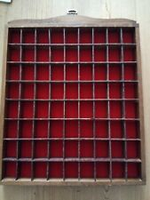 Thimble Wooden Display Case Holds 72 thimbles Wall Hanging