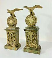 Sublime PAIRE DE CASSOLETTES d'époque EMPIRE en bronze ciselé doré XIXe