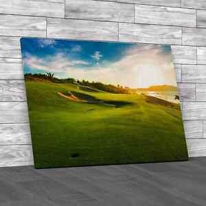 Twlight Golf Original Canvas Print Large Picture Wall Art
