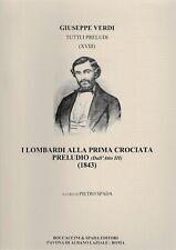 G.Verdi: I Lombardi alla Prima Crociata, Preludio für Orchester. Bd XVIII