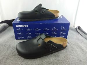 Birkenstock Boston Narrow Fit Size 6 - Black - NOB
