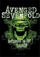 """Avenged Sevenfold Flag/ Tapestry/ Fabric Poster Welcome To The Family"""" New"""