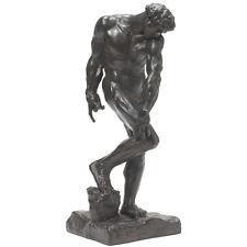 "Adam (1880) Sculpture Statue by Rodin museum reproduction replica 15"""