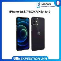 COQUE IPHONE 12 11 SE X XR XS MAX 6 7 8 TRANSPARENT ULTRA FIN