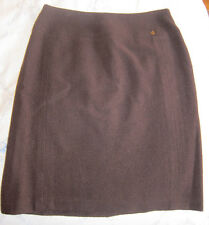 Chanel wool tweed skirt 98A brown 36 XS