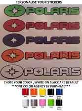 (#297) 3 X POLARIS STICKER BI-COLOR RZR SPORTSMAN RANGER STICKER DECAL EMBLEM