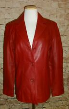 "Women's Juniors ""Siena"" Red Leather Jacket Blazer Size 6"