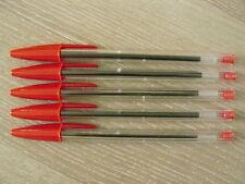 Stylo bille BIC Cristal Médium lot de 5 Rouge