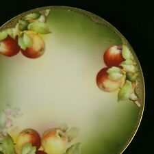 "1908-'39 Thomas China Sevres Bavaria Laragossa Porcelain Plate 10-3/4""- Apples"