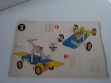 Vintage Meccano manuel d'instructions boite construction N°3 parfait etat.