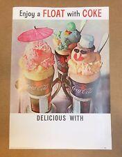 "Vintage Coca Cola 50's Poster ""Enjoy a Float with Coke"""