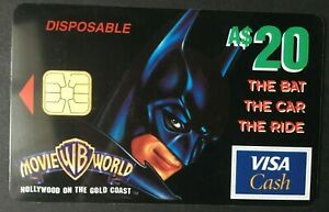 1997 $20 - VISA CASH CARD - *BATMAN*  perfect condition issued by ANZ bank