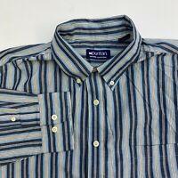 Puritan Button Up Shirt Mens XL Multicolor Stripe Wrinkle Free Long Sleeve