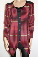GORDON SMITH Brand Multi Striped Button Front Top Size M LIKE NEW  #AN02