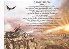 """Personalisierte Gedicht """"A Bruder Like You"""" großes Geschenk für Geburtstag oder jeden Anlass"""