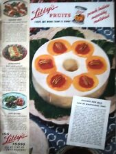1936 LIBBY'S Foods Peaches and Milk can be Marvelous Color Fruit Ad