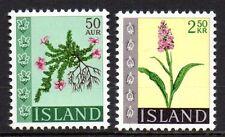 Iceland - 1968 Flowers Mi. 415-16 MNH