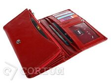 Women Wallet Leather Ladies Wallet Natural LEATHER  RED PURSES